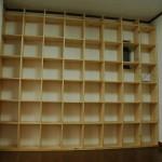 格子状 壁一面本棚の作り方(その3)蜜蝋ワックス作成&固定