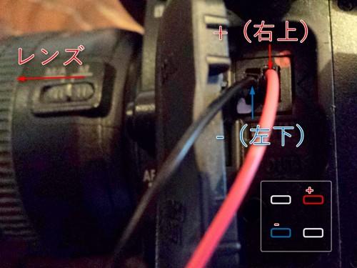 肝心な所が小さいのですが、レンズを左側に、右上がプラス、左下がマイナス